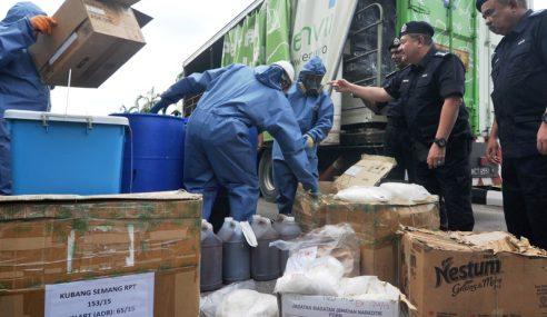 Polis Pulau Pinang Lupus Lebih 800 Kg Dadah