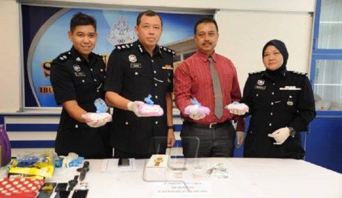 4 Ditahan, Dadah Bernilai RM60,000 Dirampas