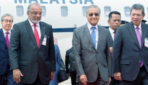 Mahathir Tiba Di Bangkok Untuk Lawatan 2 Hari