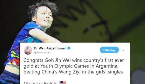 Tahniah Jin Wei Menang Emas Pertama Malaysia