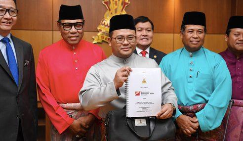 Selangor Bentang Belanjawan 2019 RM2.56 Bilion