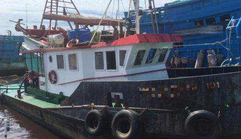 Kapal Bawa Diesel Bernilai RM91,800 Ditahan Di Perairan Miri