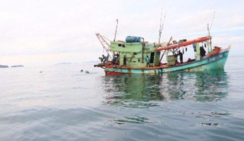 Tiga Nelayan Ditahan Guna Pukat Tunda Haram