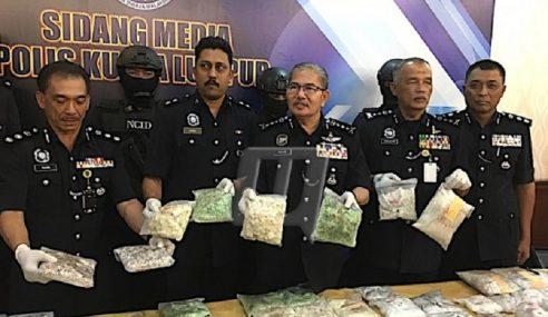 5 Ditahan, Polis Rampas Dadah Hampir RM1 Juta