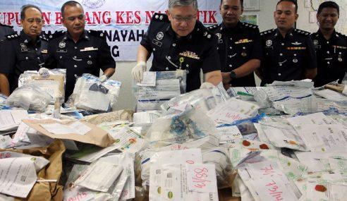 Polis Pahang Lupus Dadah Bernilai RM1.1 Juta
