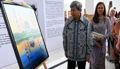 Sultan Selangor Lancar Pameran Lukisan Masjid