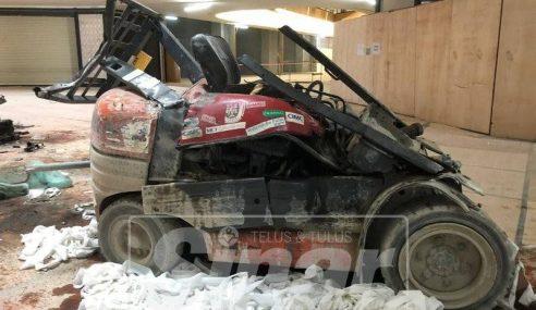 Pengendali Forklift Maut Terjatuh Dari Tingkat 3