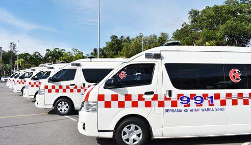 Jabatan Kesihatan Perak Terima 48 Ambulans Baharu