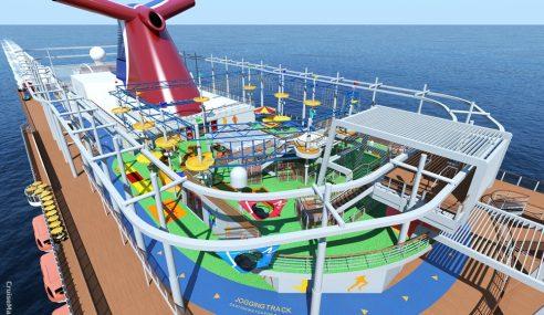 Kapal Pelayaran Dipasang Roller-Coaster