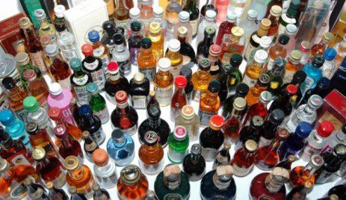 Polis Marin Labuan Rampas Alkohol Seludup Bernilai RM6,000
