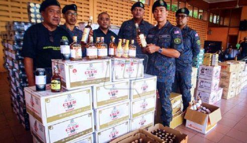 Aksem Perlis Sita 639 Karton Arak Di N.Sembilan