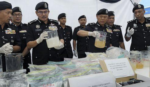 2 Makmal Ditemui, Dadah RM6.75 Juta Dirampas