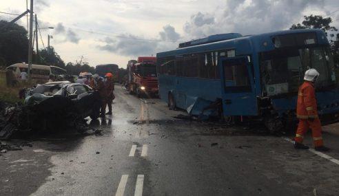 3 Maut Kemalangan Libatkan Bas. Kereta & Motosikal Di PD