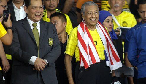PM Hadir Beri Sokongan Kepada Harimau Malaya