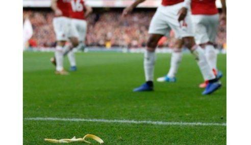Bintang Arsenal Dilempar Kulit Pisang Oleh Penyokong Tottenham