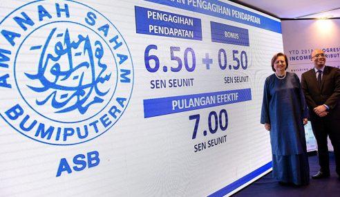 Agihan Pendapatan ASB 6.50 Sen, Bonus 0.50 Sen