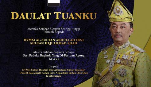 Sultan Johor Ucap Tahniah Pada Sultan Pahang