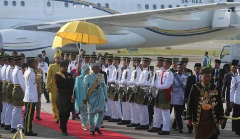 Agong Ke-16: Al-Sultan Abdullah Tiba Di Ibu Negara