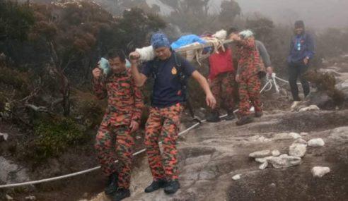 Pendaki Cedera Diusung Turun Dari Gunung Kinabalu