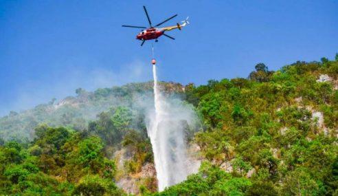 Operasi Padam Kebakaran Gunung Baling Diteruskan