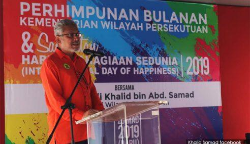 """Malangnya Awak Khalid Samad,"" Kata Najib"
