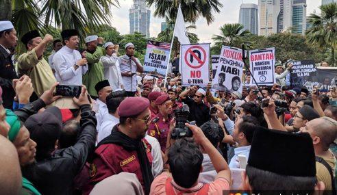 1,000 Himpun Di Masjid Negara Bantah Tindakan Hina Islam