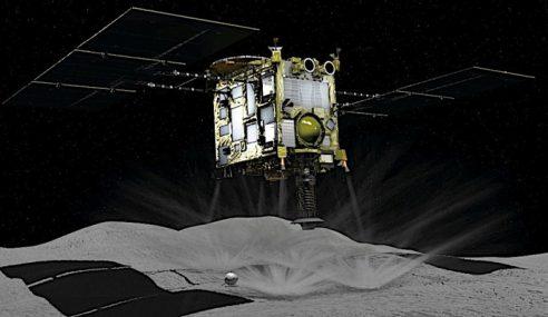 Kapal Angkasa Jepun Tembak Peluru Ke Dalam Asteroid