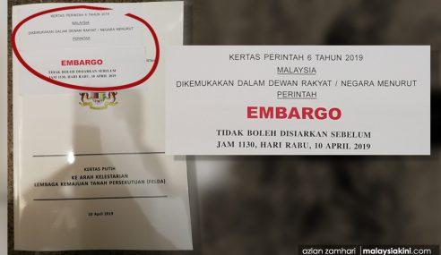 Najib Digantung 3 Bulan Dedah Awal Kertas Putih Felda?