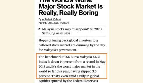 Bursa Malaysia Paling Teruk Di Dunia!