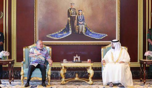 Sultan Ibrahim Terima Kunjungan Putera Mahkota Fujairah