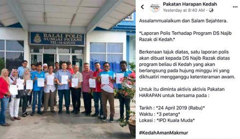 PH Lapor Polis 'BossKu' Lawat Kedah 3 Hari