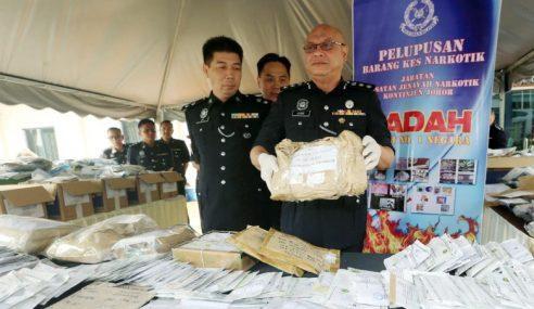 Polis Johor Lupus Dadah Bernilai RM20.61 Juta