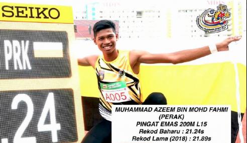 'Usain Bolt Malaysia' Pecah Rekod Lagi