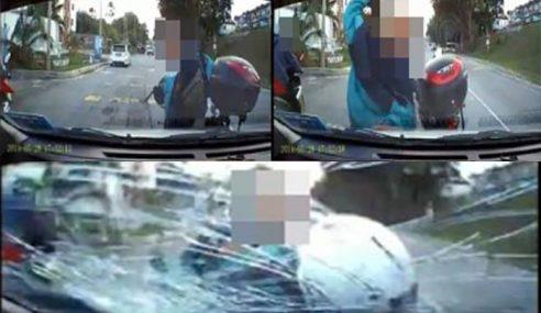 Polis Cari Lelaki Pecahkan Cermin Kereta