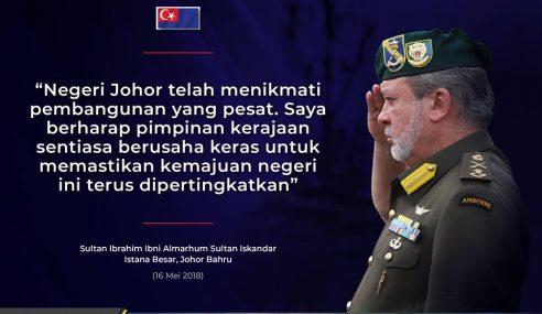 Sultan Johor Sedia Serah Tanah Di Bukit Chagar