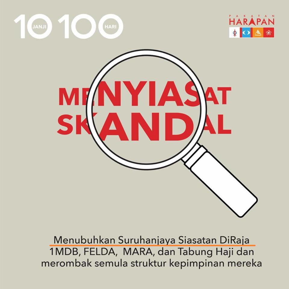 Mana Janji 100 Hari PH Wujudkan RCI?