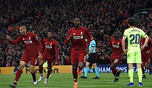 Liverpool Lakar Kebangkitan Sensasi Benam Barcelona
