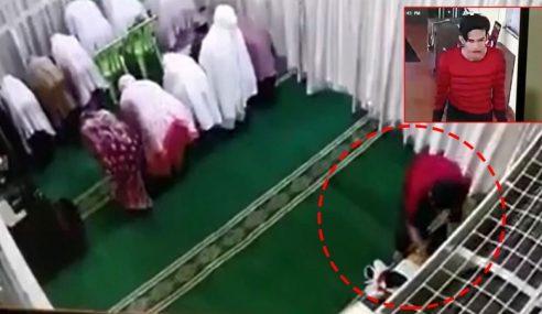 Wajah Pencuri Terakam CCTV Masjid