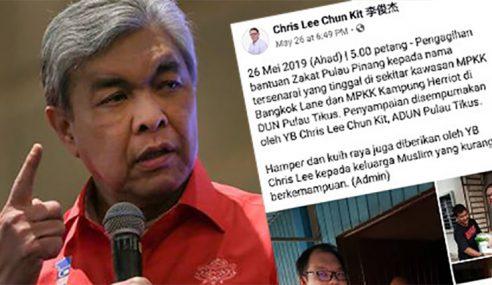 Zahid Bidas Sikap Pemimpin DAP Campur Urusan Zakat