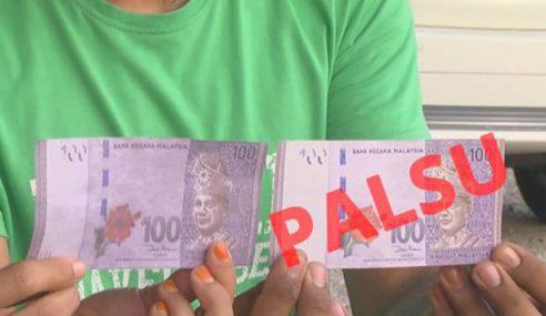 Duit Palsu RM100, Peniaga Kampung Ditipu