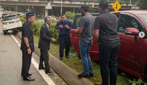 Agong Bantu Mangsa Kemalangan Jalan Raya