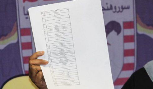 1MDB: Senarai Responden Terbaharu 2 Minggu Lagi