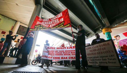 Lebih 100 Demo Bantah Cadangan Jajaran LRT Bayan Lepas