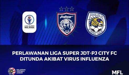 Perlawanan JDT-PJ City Ditunda Akibat Virus Influenza – MFL