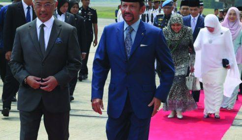 Agong, Raja Permaisuri Berangkat Sambut Rombongan Sultan Brunei