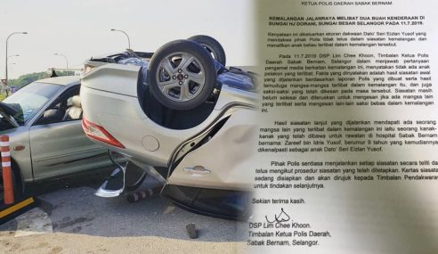 Siasatan Telus Kemalangan Libatkan Anak Eizlan – Polis