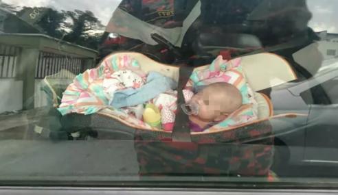 Bomba Selamatkan Bayi Terkunci Dalam Kereta