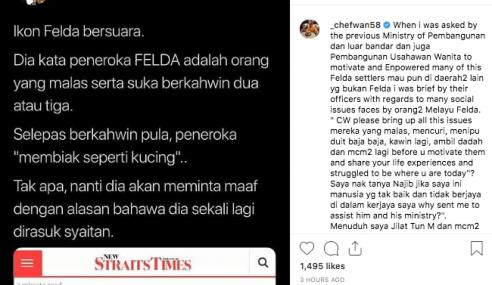 Chef Wan Dedah Najib Minta Bantuannya Ketika Bergelar PM