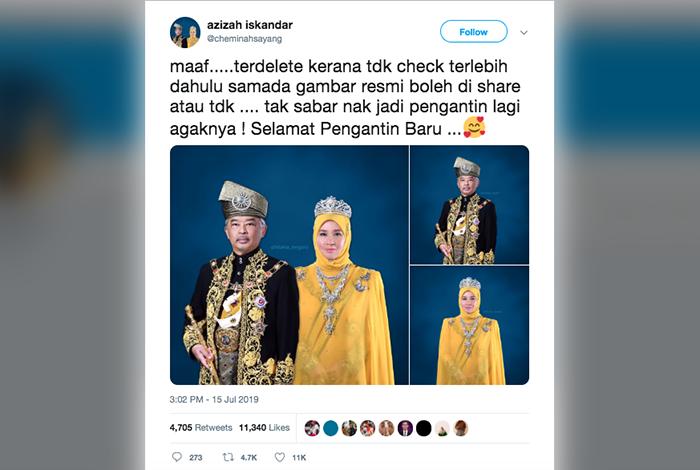 Tweet Raja Permaisuri Agong Tarik Perhatian Mynewshub