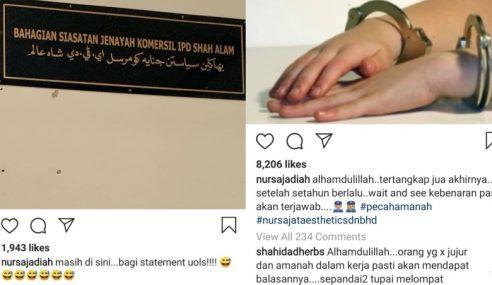 Bekas Pekerja Nur Sajat Ditahan Pecah Amanah RM1 Juta
